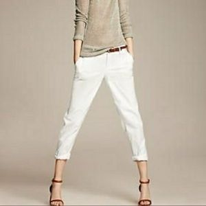 Banana Republic City Chino White Pants, size 10